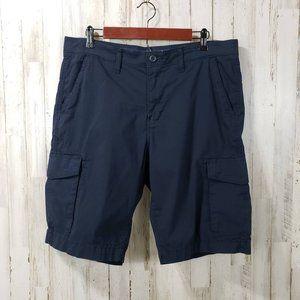 Sonoma Mens Cargo Shorts Blue Six Pocket